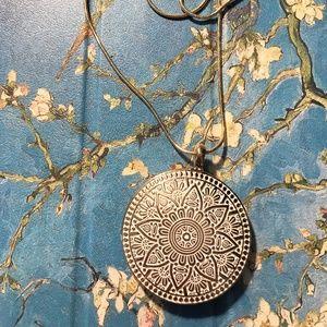 Jewelry - Reversible Gold Medallion Boho Necklace